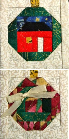 "Three 3"" Holiday Wreath Blocks-Pefect for NEW Carol Doak Keepsake Cards"